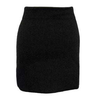 Theory Ribbed Bodycon Mini Skirt