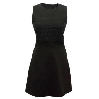Theory Skater Dress with Textured Top