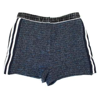 Sandro Tweed Shorts with Side Stripe