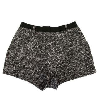 Sandro tweed mini shorts