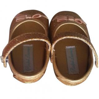 Ralph Lauren Gold Baby Shoes