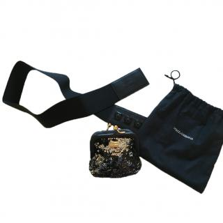 Dolce Gabbana Sequin Purse Belt