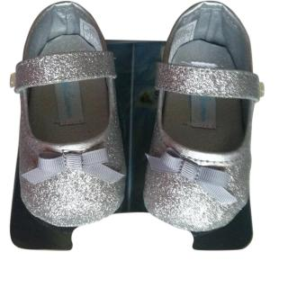 Ralph Lauren Silver Baby Shoes