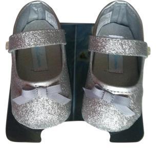 Ralph Lauren Silver Baby Shoes