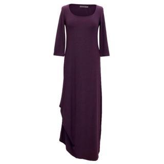Pologarage Stretch Maxi Dress with Button Up Hem