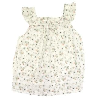 Marie Chantal Faded Floral Frill Blouse