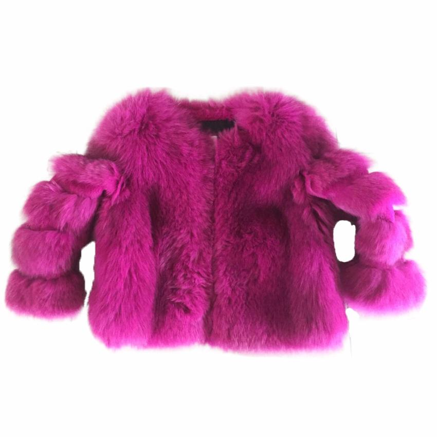 Pink Fox Fur coat