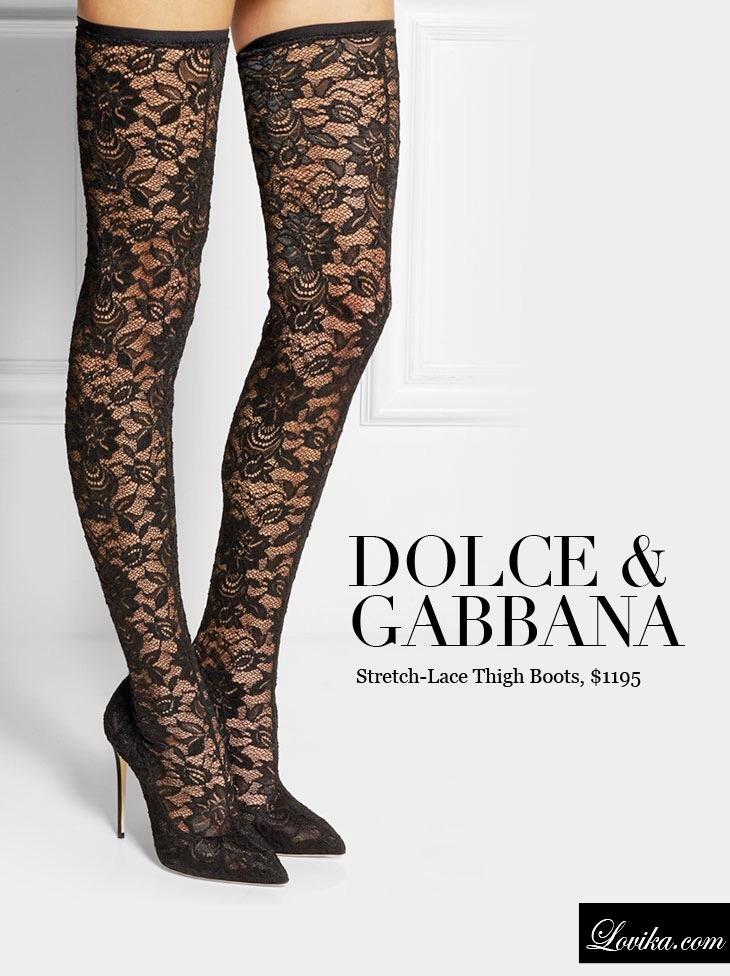 New Dolce Gabbana Stretch Lace Stocking