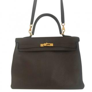 Hermes Kelly cacao gold