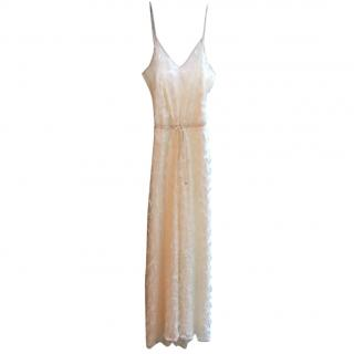 Temperley long white delicate flower maxi dress