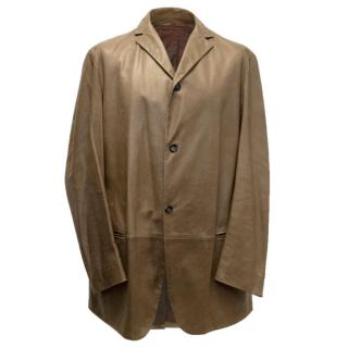 Jil Sander Leather Blazer