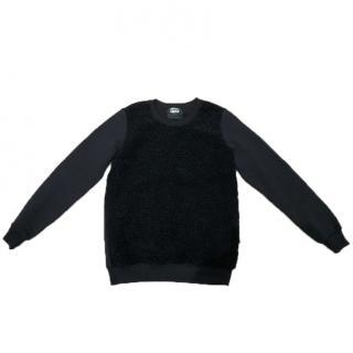 Markus Lupfer Black Wool Panelled Sweatshirt