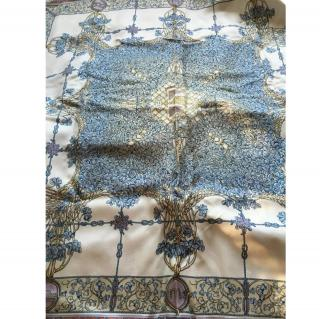 Gucci Silk Scarf Blue & White