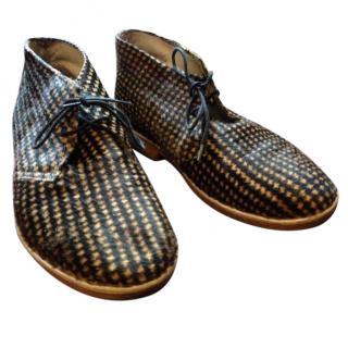 YMC Houndstooth Desert Boots
