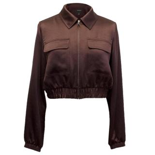 Club Monaco Silk Cropped Bomber