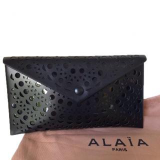 Alaia Laser Cut Leather Envelope Clutch