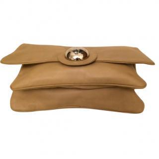 Giuseppe Zanotti leather beige clutch