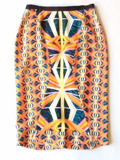 Peter Pilotto multicolor graphic printed stretch pencil skirt