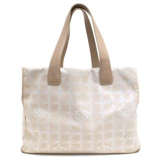 Chanel Beige Canvas Tote