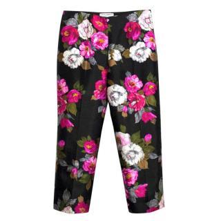 Dolce & Gabbana Floral Print Silk Trousers