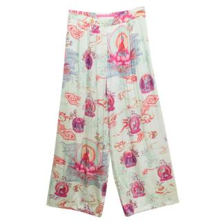 Emanuel Ungaro Silk Patterned Buddha Trouser