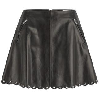 Red Valentino studied leather skirt