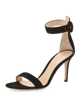 GIANVITO ROSSI Portofino 85 suede sandals Size 5