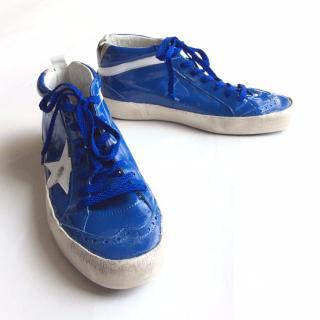 Golden Goose Deluxe Mid Star cobalt blue sneakers