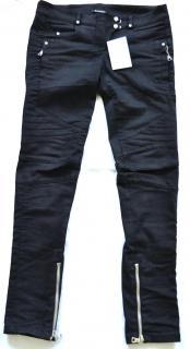 Balmain black cotton biker trousers