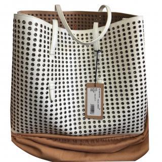 Alaia White eyelit Tote bag