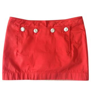 Acne studios orange mini skirt