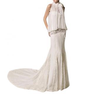 Manuel Mota Telma wedding dress plus hairpiece