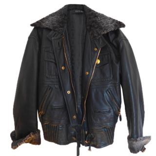 Gucci Dark Green Leather Jacket