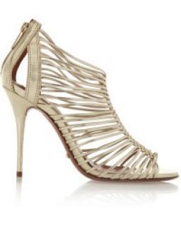 Schutz Gold Braid Sandals