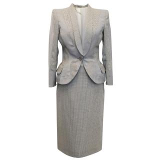 Alexander McQueen Dog Tooth Check Skirt Suit