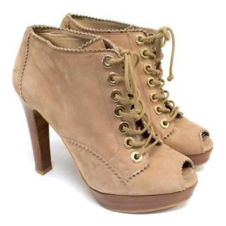 Stuart Weitzman for Russell & Bromley Taupe Shoe Boots