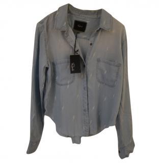 Rails denim lightening bolt shirt