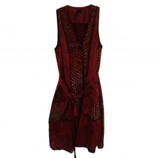 Edun silk mid length dress