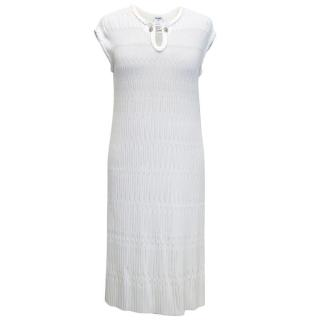 Chanel Cream Dress with Chain Button Fastening