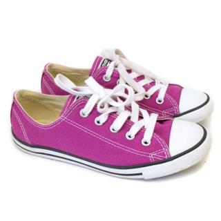 Converse Allstar Purple Canvas Pumps