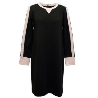 J.Crew Black and Pink Sweatshirt  Trim Dress