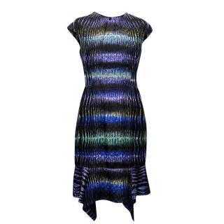 Peter Pilotto Geometric Print Silk Dress