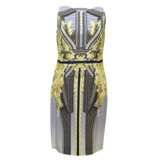Antonio Berardi Sleeveless Geometric Print Dress