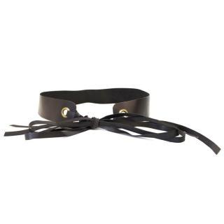 Donna Karan Black Leather Belt