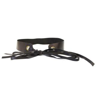 Donna Karan Black Leather Belt