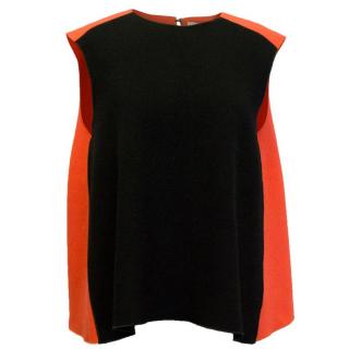 Roksanda Ilincic Red and Black Crepe Top
