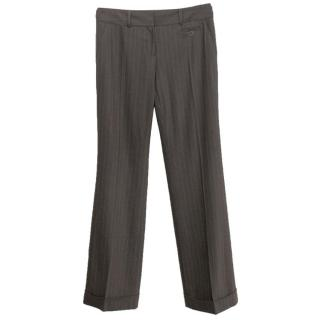 Joseph Brown Pinstripe Suit Trousers