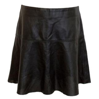 Vince Black Leather Mini Skirt
