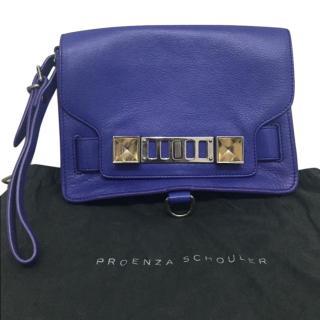 Proenza Schouler PS11 purple clutch