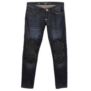 Philipp Plein Slim Studded Jeans